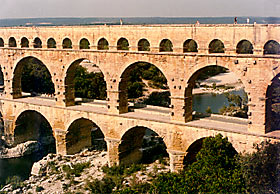 Photograph of Pond Du Guard Roman Aqueduct, Nimes, France